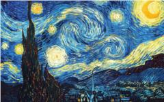 The Starry Night by Vincent Van Gogh from Wikipaintings.org